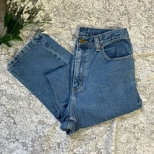 Hi-Waist Light Wash Mom Jeans LL Bean